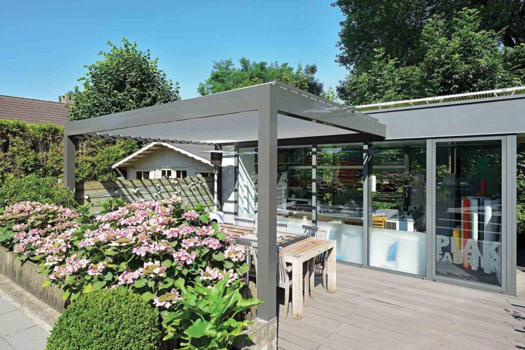 pergola bioclimatique terrasse restaurant